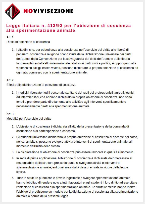 Legge 413_93 Novivisezione